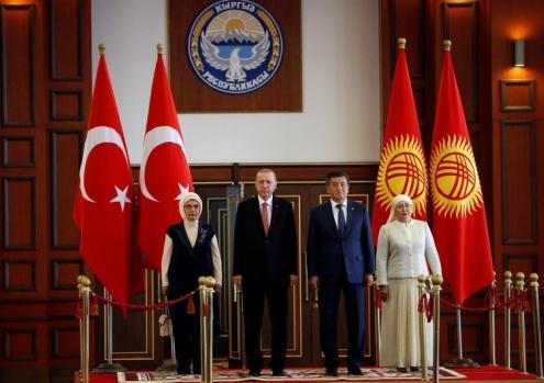 Başkan Erdoğan Kırgizistan'da
