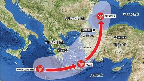 Tropikal fırtına yön değiştirdi! Tropikal fırtına 'Zorba' İstanbul'u etkileyecek mi? .