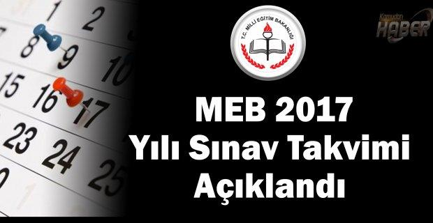 MEB  Sınav Takvimi Açıklandı