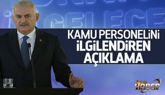 Başbakan Binali Yıldırım'dan Kamudaki personellerle ilğili açıklama geldi.