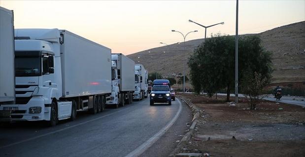 BM'nin 14 yardım tırı İdlib'e hareket etti