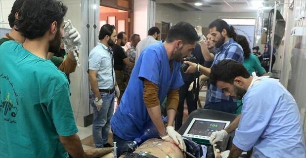 Bombardımanların hedefindeki Halep'te hastaneler yaralılarla dolu