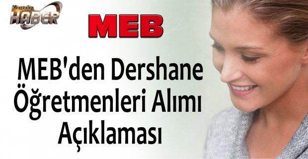 MEB'den Dershane Öğretmenleri için açıklama.