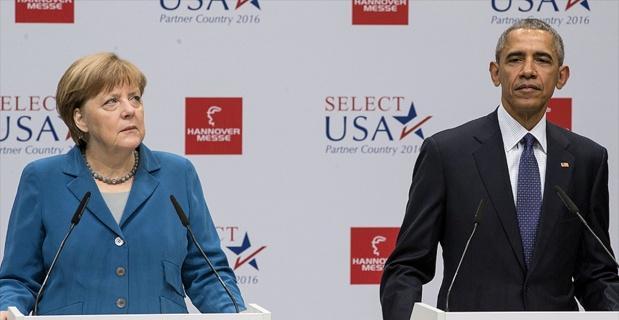 Obama ve Merkel Rusya ile Esed rejimini kınadı