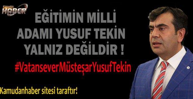 #VatanseverMüsteşarYusufTekin Twitter'ı Salladı