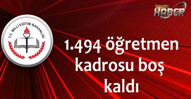 1.494 öğretmen kadrosu boş kaldı