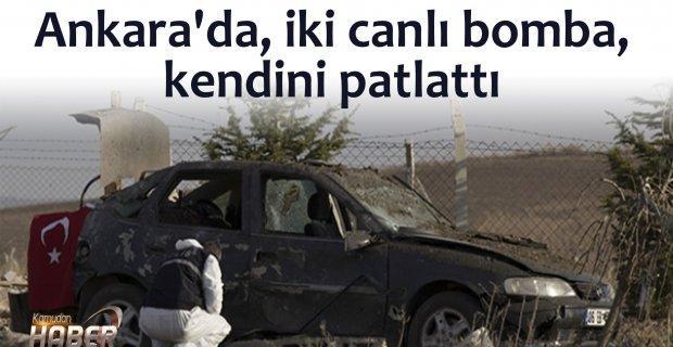 Ankara'da, iki canlı bomba, kendini patlattı