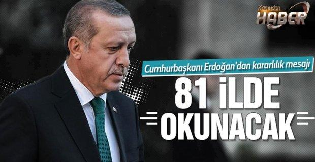 Cumhurbaşkanı Erdoğan'dan anlamlı 29 Ekim mesajı