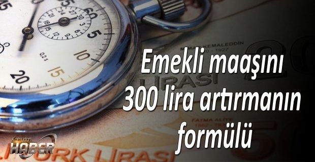 Emekli maaşını 300 lira artırmanın formülü