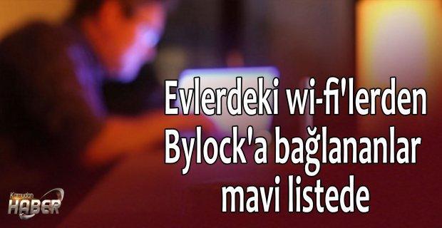 Evlerdeki wi-fi'lerden Bylock'a bağlananlar mavi listede