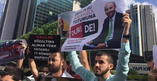İsrail'de Türk vatandaşının gözaltına alınması protesto edildi