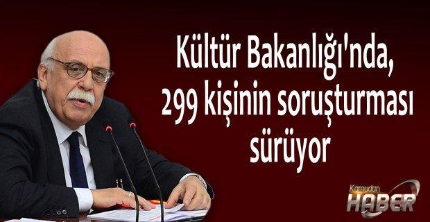 Kültür Bakanlığı'nda, 299 kişinin soruşturması sürüyor