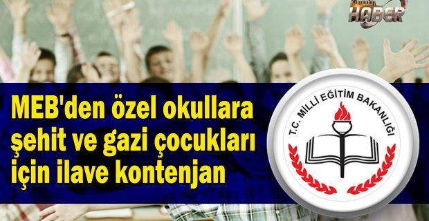 MEB'den özel okullara şehit ve gazi çocukları için ilave kontenjan