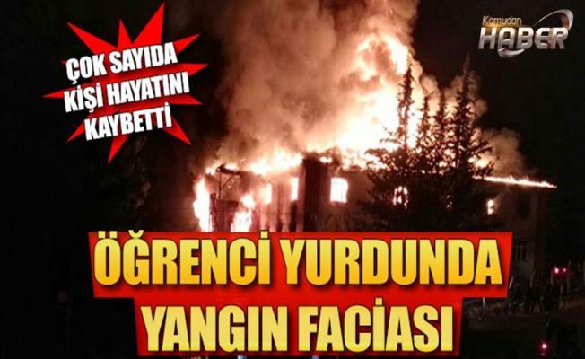 Adana'da kız öğrenci yurdunda yangın!