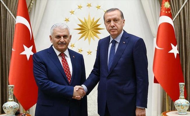 Cumhurbaşkanı Erdoğan ile Başbakan Yıldırım bir araya geldi