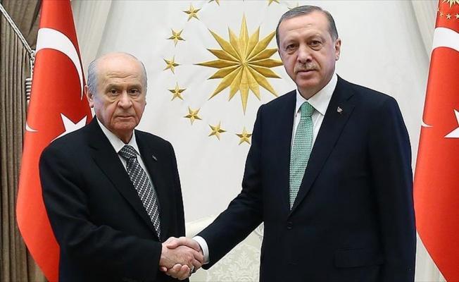 Cumhurbaşkanı Erdoğan MHP Genel Başkanı Bahçeli'yi kabul etti