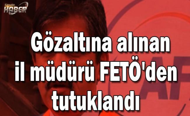 Gözaltına alınan il müdürü FETÖ'den tutuklandı