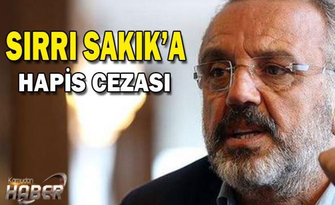 HDP'li Sırrı Sakık'a 1 yıl 3 ay ceza