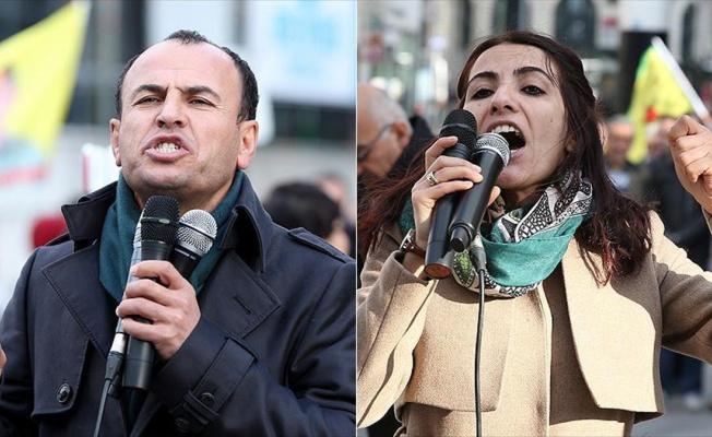 Kaçak HDP'liler Brüksel'de PKK'lıların gösterisinde görüntülendi