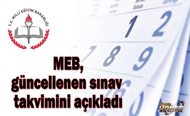 MEB, güncellenen sınav takvimini açıkladı