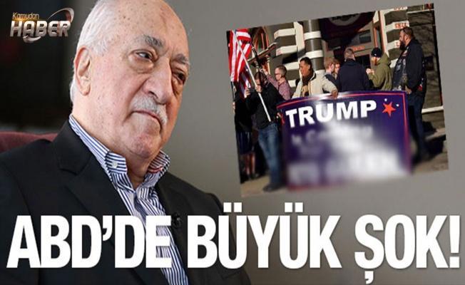 Pensilvanya'da Gülen için şok Trump pankartı!