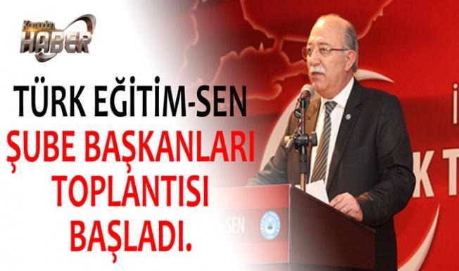 TÜRK EĞİTİM-SEN ŞUBE BAŞKANLARI TOPLANTISI BAŞLADI.