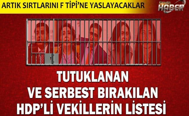 Tutuklanan ve serbest bırakılan HDP milletvekillerinin listesi