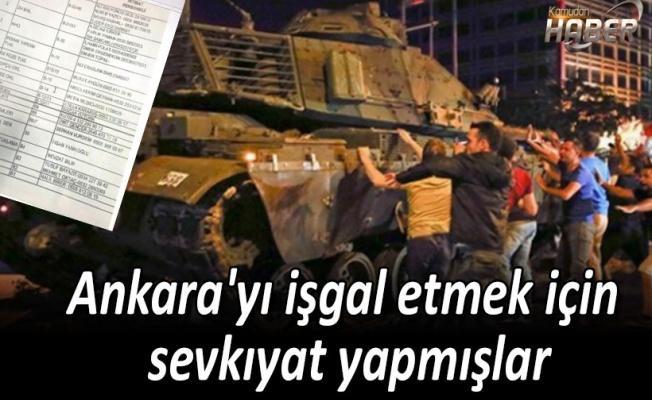 Ankara'yı işgal etmek için sevkıyat yapmışlar