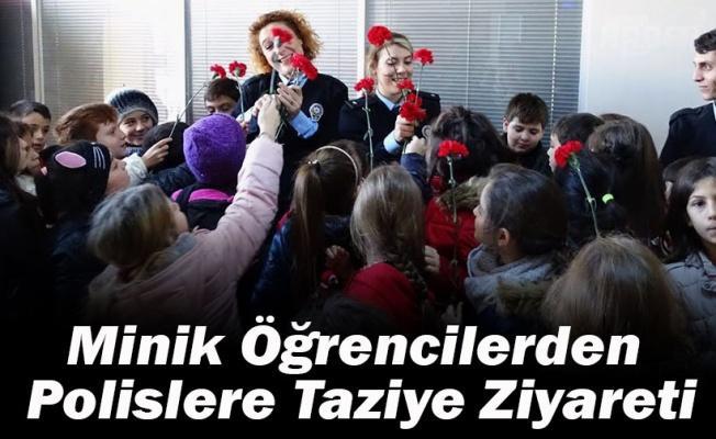 Minik Öğrencilerden Polislere Taziye Ziyareti