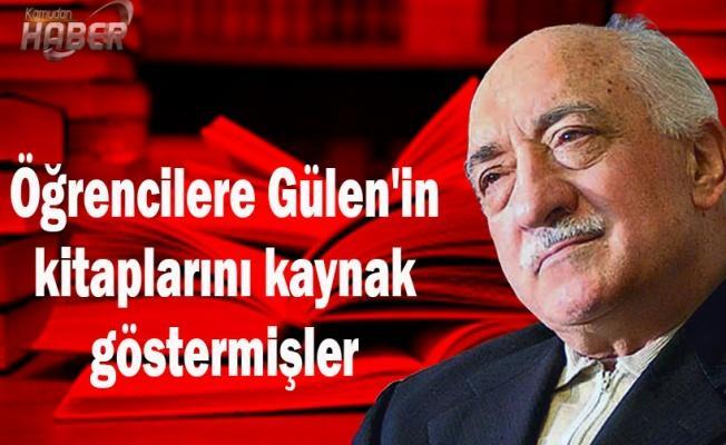 Öğrencilere Gülen'in kitaplarını kaynak göstermişler