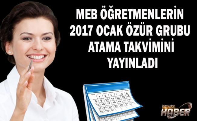 Öğretmenlerin Özür Grubu Atama Takvimi Yayınlandı