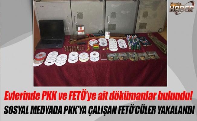 PKK propagandası yapanların evlerinde FETÖ dökümanları bulundu