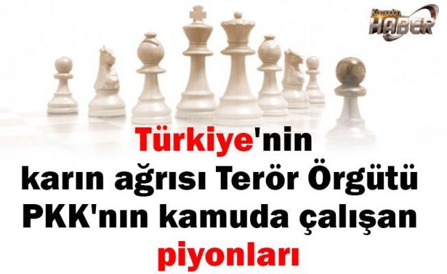 Türkiye'nin karın ağrısı Terör Örgütü PKK'nın kamuda çalışan piyonları