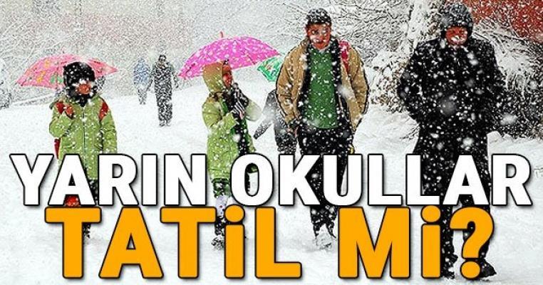 Yarın  İstanbul'da okullar tatil mi? 29 Aralık Perşembe Okulların tatil olduğu iller...