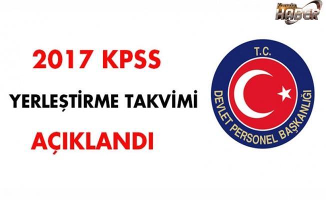 2017 KPSS yerleştirme takvimi açıklandı