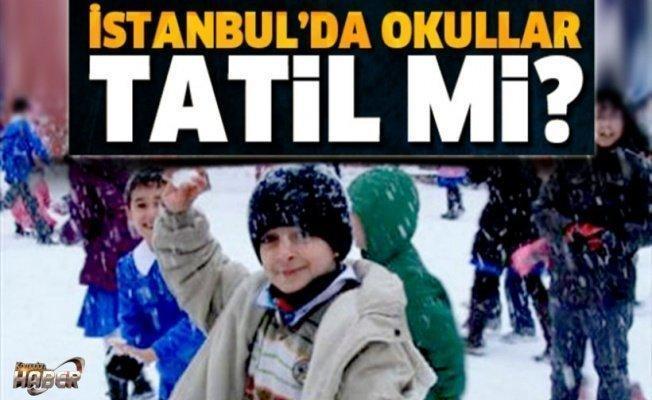 9 Ocak Pazartesi İstanbul'da okullar tatil mi?