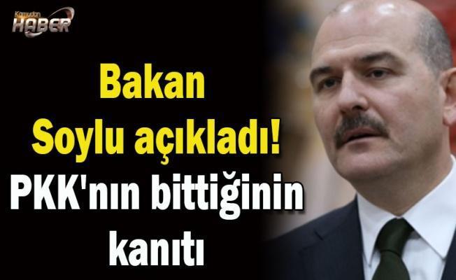 Bakan Soylu açıkladı! PKK'nın bittiğinin kanıtı