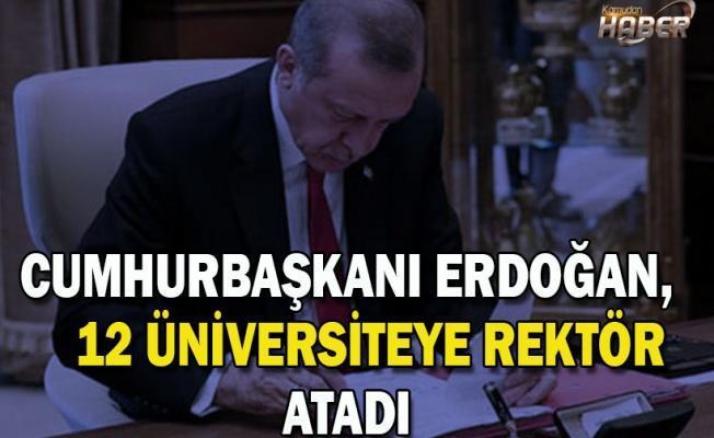Cumhurbaşkanı Erdoğan, 12 üniversiteye rektör atadı