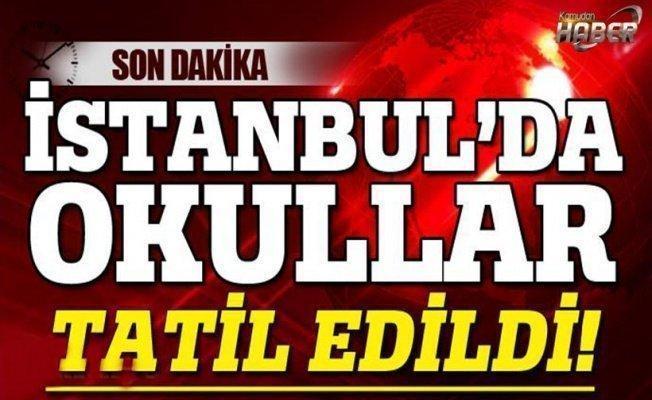 İstanbul'da 9 Ocak 2016 Okullar Tatil Edildi