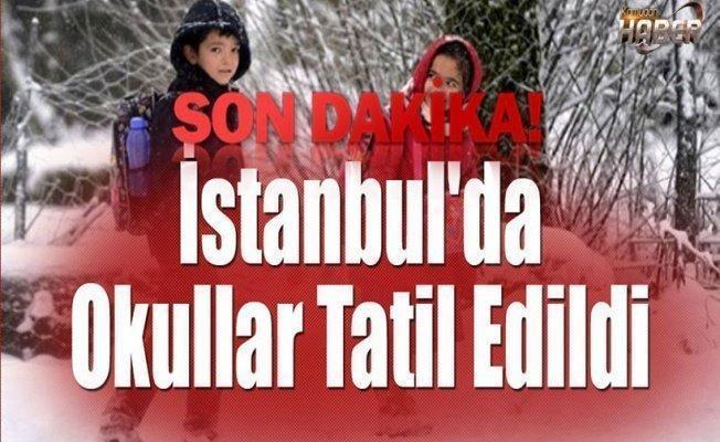 İstanbul'da okullar yarın da tatil edildi