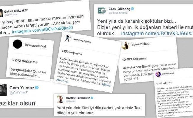İstanbul'daki terör saldırısına ünlü isimlerden tepki