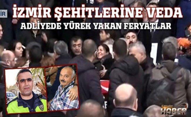 İzmir Adliyesi'nde duygusal tören...