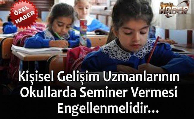 Kişisel Gelişim Uzmanlarının Okullarda Seminer Vermesi Engellenmelidir…