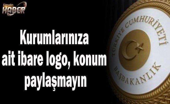 Kurumlarınıza ait ibare logo, konum paylaşmayın