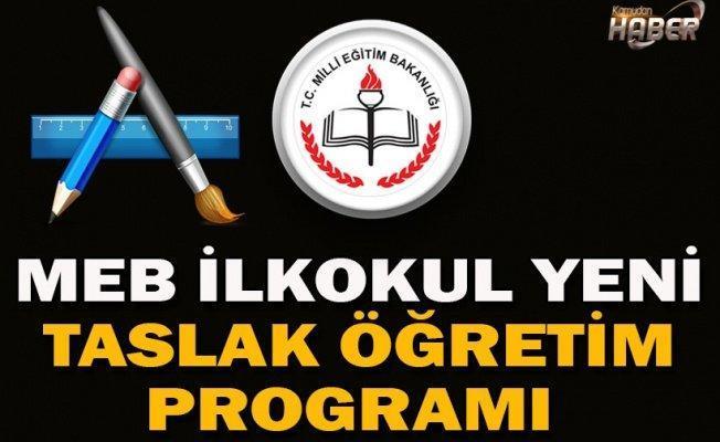 MEB İlkokul Yeni Taslak Öğretim Programı