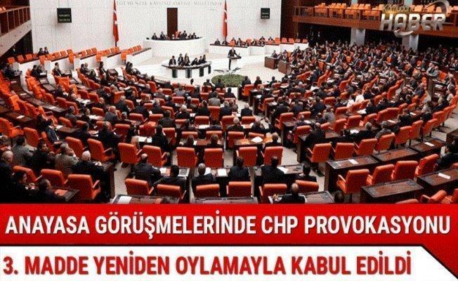Meclis'te CHP provokasyonu