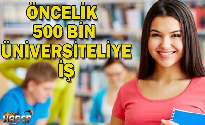 Öncelik 500 bin üniversiteliye iş