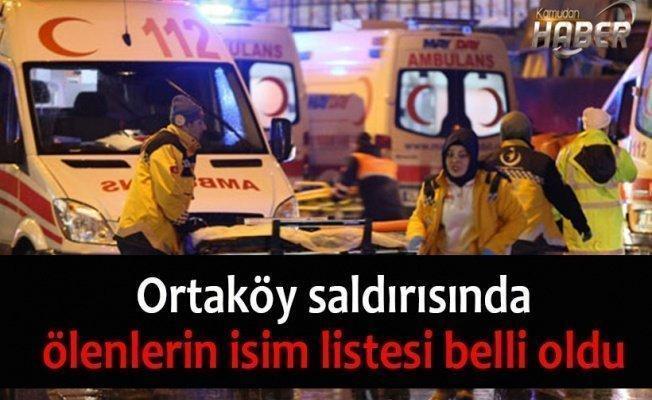 Ortaköy saldırısında ölenlerin isim listesi belli oldu