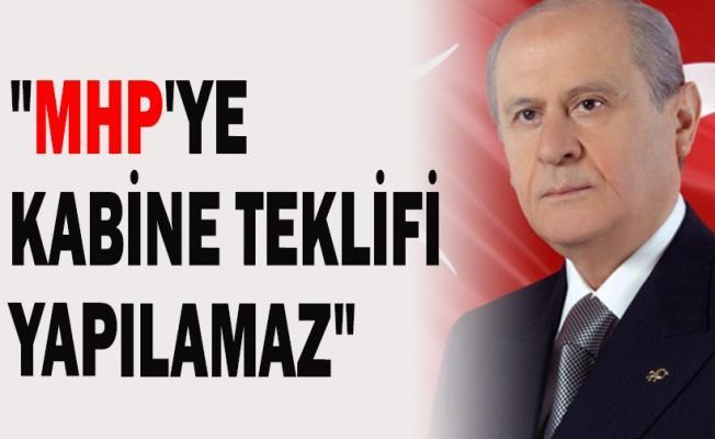 Bahçeli: MHP'ye kabine teklifi yapılamaz