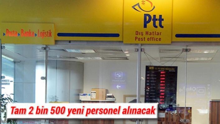PTT ye 2500 personel alınacak
